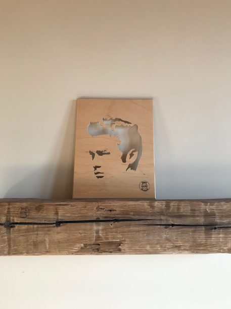 James Dean actor moovie star handmade wood silhouette art