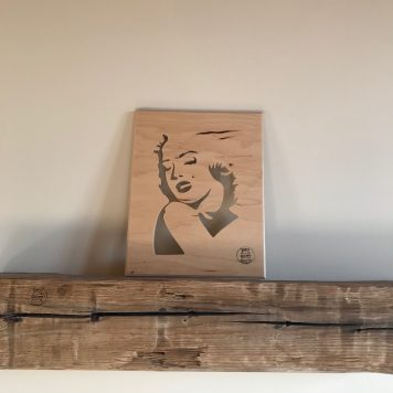 Marilyn Monroe actor famous woman handmade wood silhouette